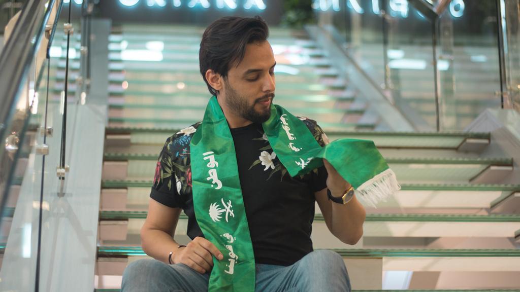علي الفيصل محتفلا باليوم الوطني